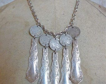 SUMMER SALE Buffalo Alhambra Necklace