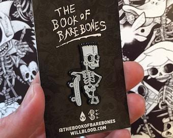 Bart Skeleton Enamel Pin