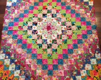 Beautiful Floral Print Quilt