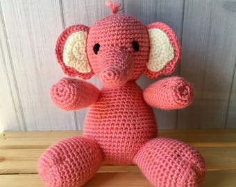 Pink Elephant - Plush Elephant Toy - Baby Boy Gift