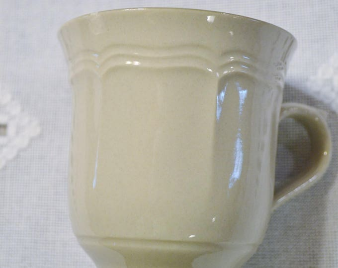 Vintage Newcor Cup Gray Dark Gray Rim Stoneware Replacement Made in Japan PanchosPorch