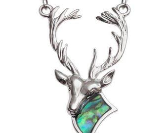 Tide Jewellery Paua Shell Stag Rain Dear Pendant Gift Boxed
