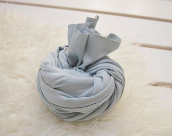 Newborn Photo Prop, Fabric Wrap, Posing Fabric, Layering Fabric, Swaddle Wrap, Newborn Props, Cotton Wrap, Newborn Wrap, Light Blue, 168