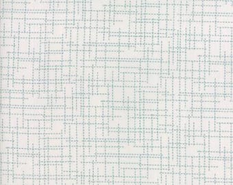 Modern BG Colorbox - Background Grid Turquoise by Zen Chic for Moda, 1/2 yard, 1648 17