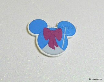 Fairy Godmother Pin Mouse Head Ears Handcrafted Brooch Flair Lapel Pin Tie Tack Hat Pin