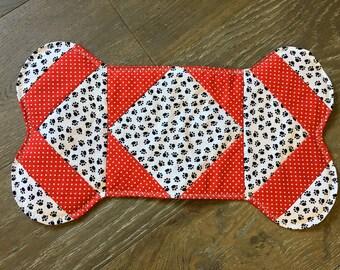 Pet placemat, dog food mat, shaped dog placemat, dog gift