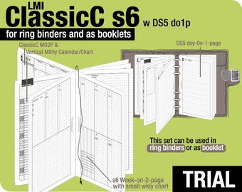 Trial [FC compact / B6 slim ClassicC S6 with DS5 do1p] November to December 2017 - Filofax Inserts Refills Printable Binder Planner Midori.