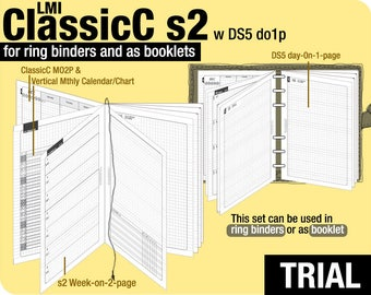 Trial [B6 ClassicC S2 with DS5 do1p] November to December 2017 - Filofax Inserts Refills Printable Binder Planner Midori.