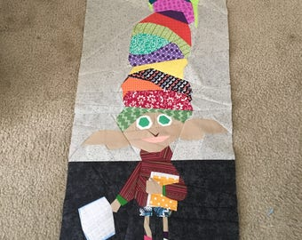 Dobby House Elf with Hats Foundation Paper Piecing Pattern