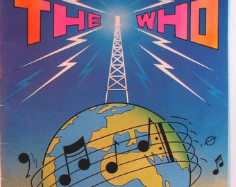 The Who Vintage 1979 Summer of '79 Tour Concert Souvenir Program