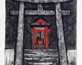 Sacred Place - shrine, temple, tori gate, worship, good fortune, pray