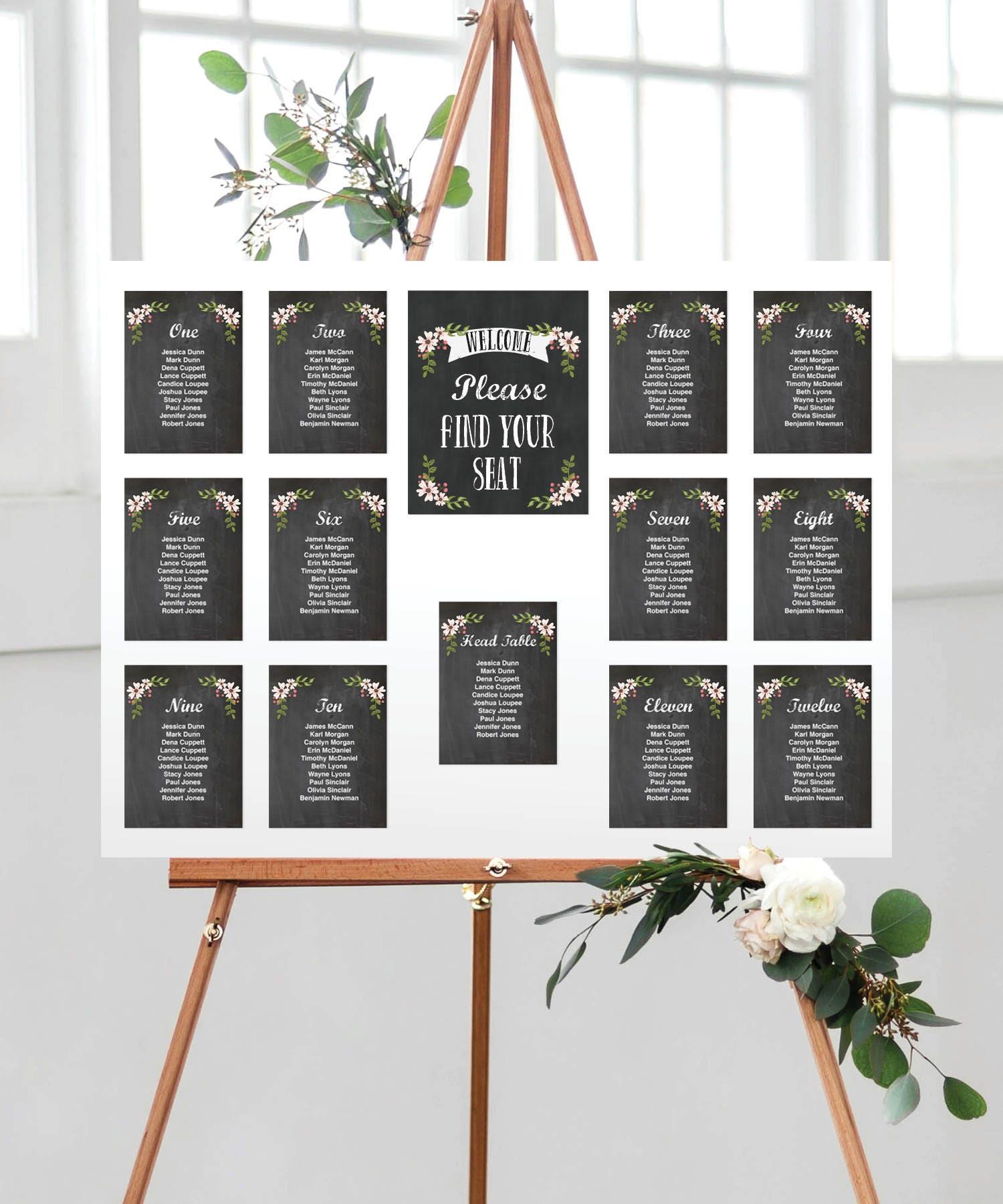 Wedding Seating Chart Template - DIY Printable Wedding Table ...