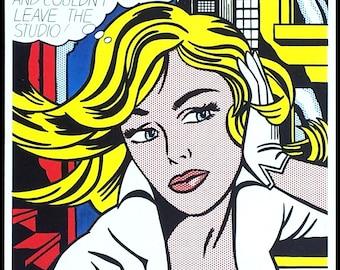 ROY LICHTENSTEIN - 'M-maybe...' - hand signed vintage print - c1993 (Andy Warhol, Pop art interest) x