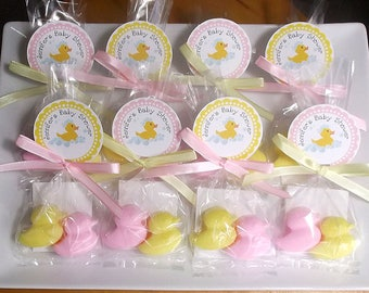 Gender Reveal Party - Gender Reveal Favors, Gender Reveal Ideas, Duck Baby Shower Favors, Girl Baby Shower, Boy Baby Shower - Set of 10