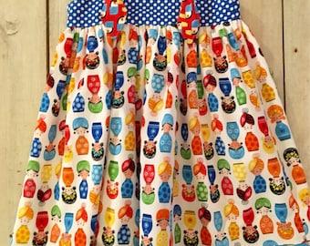 Handmade little girls dress