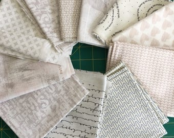 Low Volume Fat Quarter set | Quilting Fabric | Modern Quilting Fabric