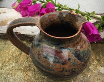 Milk Jug pitcher creamer pottery ceramic heather glaze