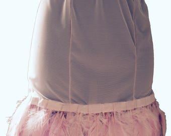 Kiss Sheer Pink Feathered Skirt