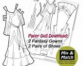 Paper Doll Medieval Fanta...