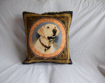 Yellow Labrador Retriever Cushion Cover, Dog Gift, Home Decor, Home Furnishings, Labrador Retriever Cushion, Labrador Gift, Retriever Gift
