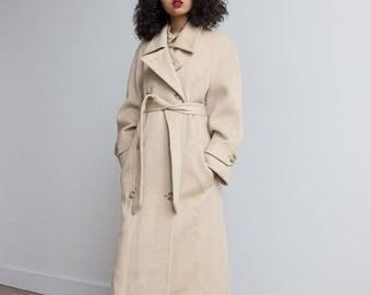 1980s Perry Ellis Camel Coat