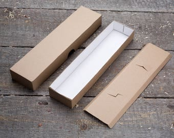 270 x 64 x 42mm Kraft Cardboard Package Box in the BLANKS (10 Pcs/Lot) for Watch, Jewelry, Gift, for DIY, handmade, Soap, Tie, scarf, shawl