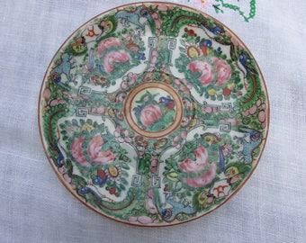 Rose Medallion - Saucer - China Saucer - Antique
