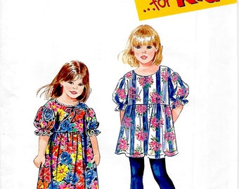 Simplicity 9273        Girls Dress or Tunic and Leggings     Size 3,4,5,6      Uncut