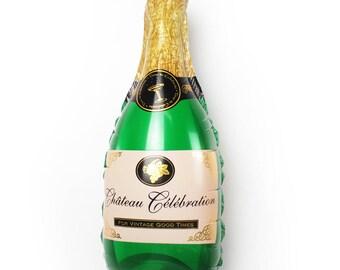 "36"" Foil balloon, champagne foil balloon, mylar foil balloon, birthday balloon, party decor, new years party balloon, celebration"
