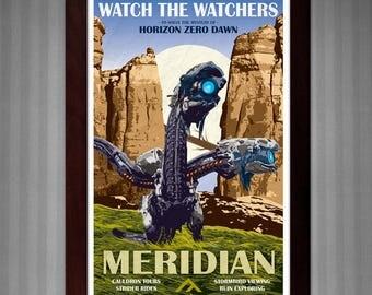 Horizon Zero Dawn - Meridian - Vintage Travel Poster - 11x17