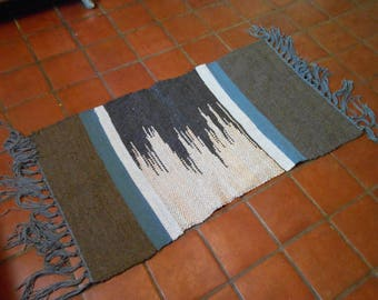 Black and Gray Wool Rug