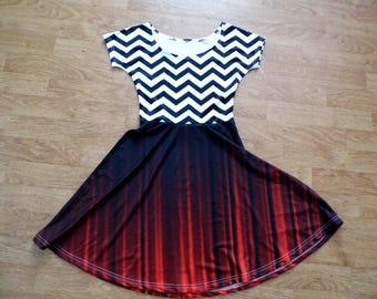Twin Peaks black lodge cap sleeve dress (printing flaws)