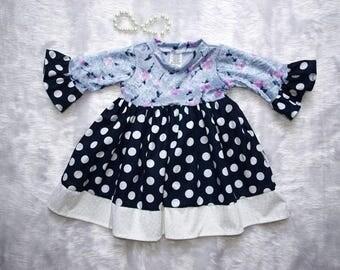 Baby girlsDress, Girls Dress,Tea party dress, Baby Girls dress size 00-2, Baby grils Party dress, Baby dress size 0,Baby girls dress size 1