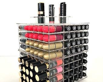 Wooden Lipstick Holder Lipstick Organizer Makeup Storage ELSA - Cosmetic makeup organizer wood countertop organizer by lessandmore
