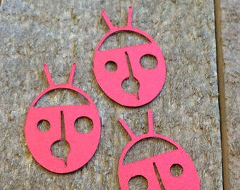 Red Lady Bug Table Confetti / Insect Bug Party Decor Decoration Table Scatter Scrapbook Embellishments Centerpiece C144