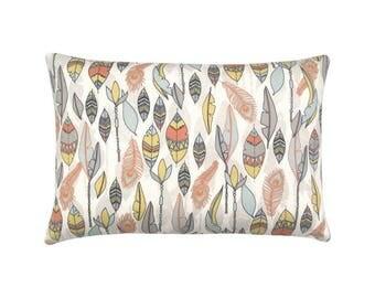Pillowcase CHEYENNE Federprint nature orange yellow blue 40 x 60 cm