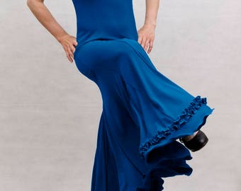 Albai Flamenco Dress, Royal Blue