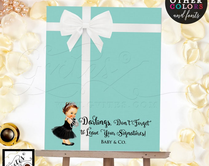 Baby and Co Baby Shower Guest Book Alternative, breakfast guestbook, please sign our guest book, blue theme poster signs, printable party.