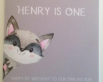 Cute Personalised 1st Birthday Card Son  Grandson, Godson, Nephew, 2nd 3rd 4th 5th 6th