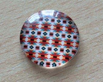 Nice geometry 10 pattern glass cabochon pendant