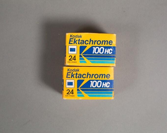 Vintage 35mm Film for Color Slides - 2 rolls Kodak Ektachrom 24 100HC Daylight Film - Professional Quality Expired Color Film from the 90's