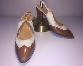 Vintage Ralph Lauren Wingtip Heels