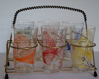 Caddy Dish 6 Glasses, years 50-60