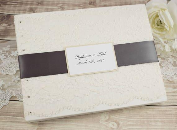 Wedding Guest Book Ivory Guest Book Wedding Album Guest