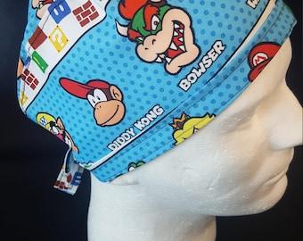Nintendo Super Mario Tie Back Surgical Scrub Hat