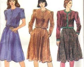 Vogue 8130 Pattern Misses Jacket and Skirt UNCUT Size 10