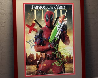 Deadpool Faux Person Of The Year Poster  - A3 Size