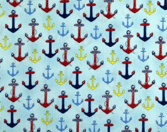 Anchor Fabric Down By the Sea Fabric From Robert Kaufman 100% Cotton