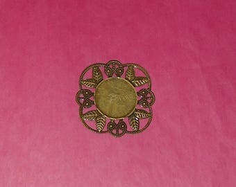 1 pendant in bronze pr creation 40X40mm