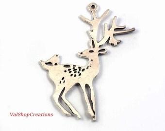 Silver deer 1 X 60mm Tibetan
